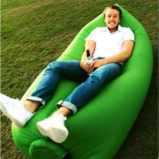 (Top Sale) Outdoor Convenient Inflatable Lounger Sofa Bed Hangout Air Sleeping Bag
