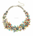 2017 floral necklace, floral statement necklace, popular flower beaded necklace