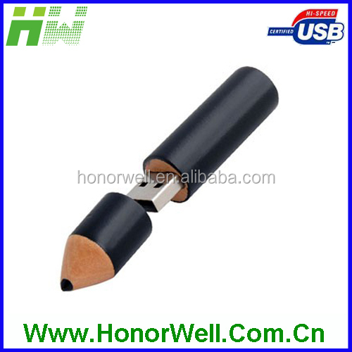 Wooden Pencil USB Pen Drive Cheap OEM Wholesale USB Flash Drive 32GB