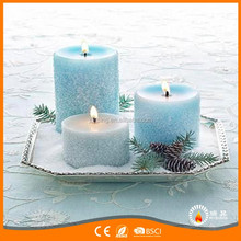 Hot selling light blue color paraffin wax candles for aromatherapy craft scented candles
