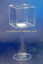 Customized acrylic donation box floor standing acrylic donation box