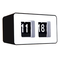 Fashion Retro Auto Flip Clock Classic Stylish Modern Desk Wall Clock Retro File Down Page Clocks