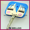 special design square plastic key covers