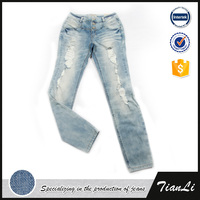 Denim innovative design skinny jeans