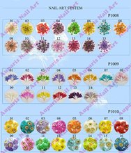 Stickers & Decals cheap 3D dry flower ADF-89B,Mix 12 Color Decorations real Dried Dry Flower for nail art decorations