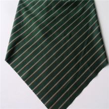 China supply fashion woven stripe green tr twill fabric