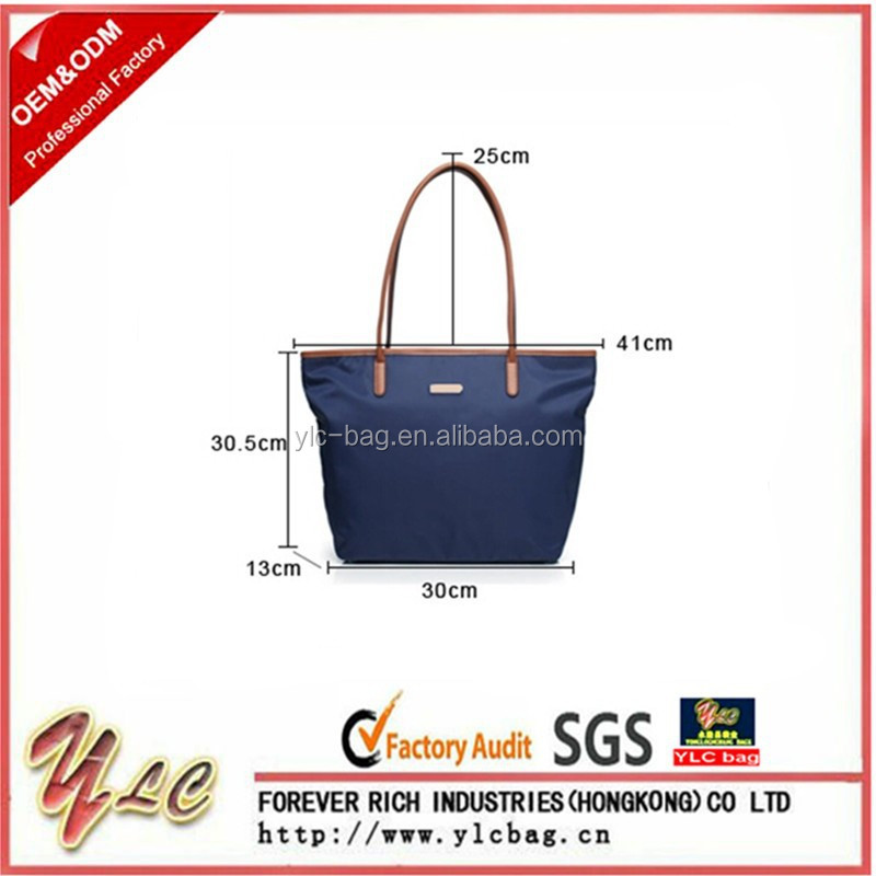 2015 Canvas Bag With PU Handle Lady Fashion Tote Bags Handbags