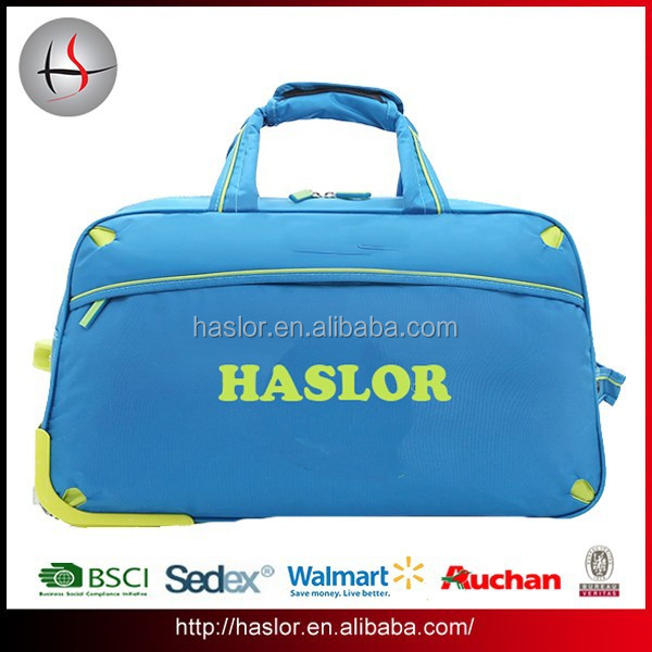 Waterproof durable oxford small rolling wheeled trolley bag boarding bag