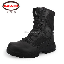 Cheapest stock Leather CP army tactical hiking shoes military ankle boot
