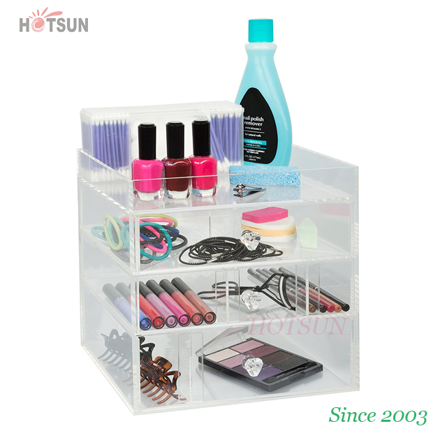 Clear Acrylic Makeup Organizer Cosmetic Drawer for Jewelry Storage