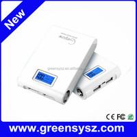 GE-189 Led light dual usb power bank 11200mah for smartphones/tablets