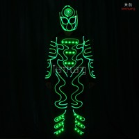 luminous glowing in the dark place fiber optic tron dance suit clothing costume