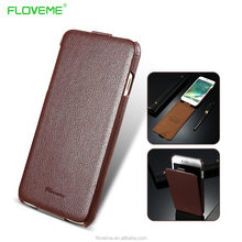 Luxury Lychee Grain Retro FLOVEME Case For IPhone 7 7 Plus Vertical Flip Natural Leather Cover ForSamsung S8 S8 Plus