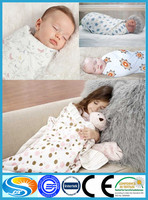 "Hot Sales 100% Cotton Muslin Baby Swaddle Wholesale 47x47"" After Washing"