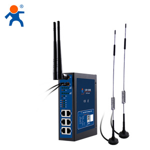 USR-G808 Industrial IoT 4G double sim card router with failover, wireless 4G LTE WiFi router