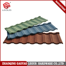 Colorful stone sand coated roofing tiles steel