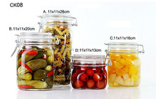 ZIBO square clear airtight glass jars for jam CK08