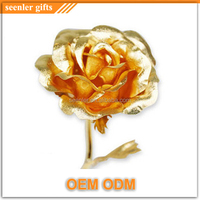 handmade decoration flower 24k gold rose flower