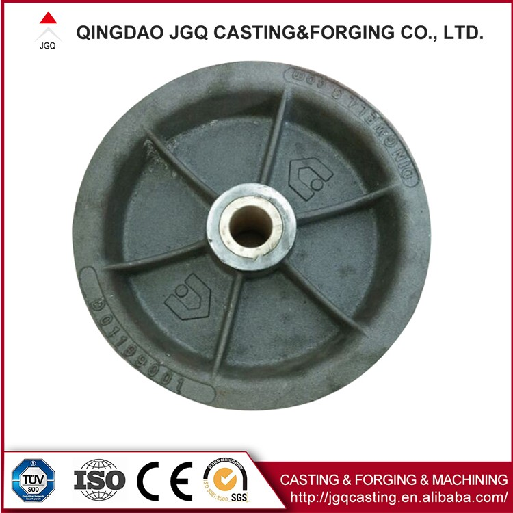 Precision Casting Carbon Steel Mining Cart Wheels