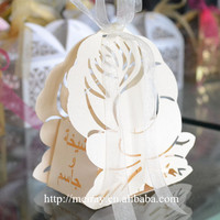 Laser cut arabic wedding favors cake decoration, indian wedding favor boxes,islamic favor boxes