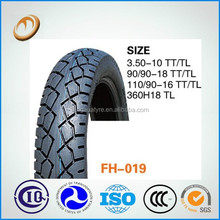chinese moto spare parts 110/90-16 motorcycle tyre and tube