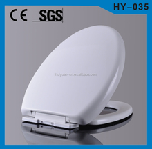 HY-035 wall hanging toilet seat hinges soft close plastic cover for toilet seat