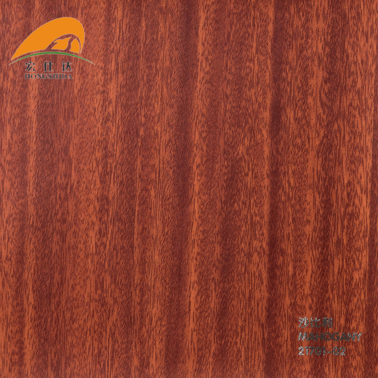 Normal Wood Grain Pvc Lamination Film ,, Decoration Pvc Membrane Foil For Door, Furniture Cabinet