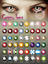 anime naruto cosplay crazy colored contact lenses wholesale halloween contacts