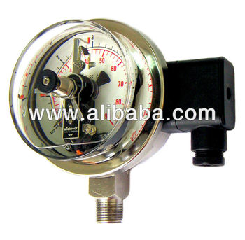 Liquid-Filled Electrical Contact Pressure Gauges with IP67 Rated