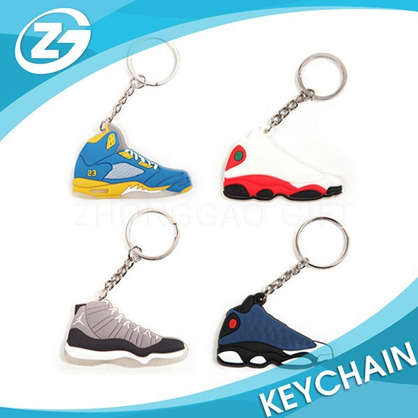 2D Air Jordan Sneaker Shoe Shape Soft PVC Rubber Keychain