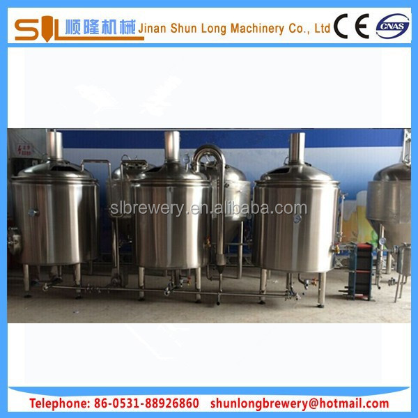 European standard micro brewery equipment made in china used beer brewery 300l 500l 700l 1000l 1500l for sale