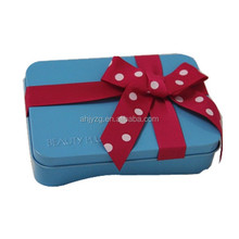 stackable cake tin box rectangle gift tin can with ribbon