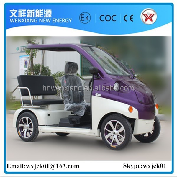 3 seats4 wheels mini electric cars for office staff