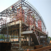 Arch Design Prebuilt Galvanized Steel Roof Truss System Structure Construction Building Stadium Bleacher