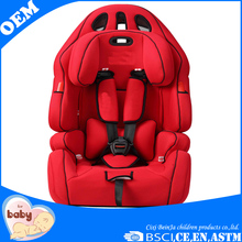 ECE R44/04 group 1+2+3 red color child car booster seat baby car seat