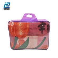 Pvc mexico style pvc plastic packaging blanket bag