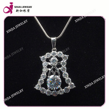 Fashion Copper Design AAAAA Gemstone Pendent White Gold Plated Big Pendants Jewelry