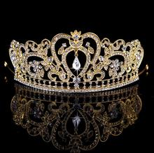 Wholesale hair tiaras and crowns with red and blue crystal jewelry india wedding tiaras