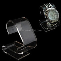 Fashion watch Customized elegant acrylic display stand C clip jewelry display