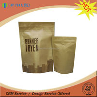 custom printing food grade material bag pouch waterproof paper bag / kraft paper bags with valve