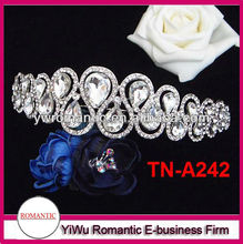 hot sale good quality Yiwu factory hair accessory wholesale tiara crown