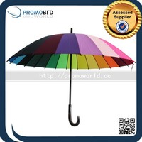 2016 fashionable promotional golf rainbow umbrella/rain umbrella