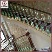 Acrylic Outdoor Stair Railings, Acrylic pillars, acrylic banister