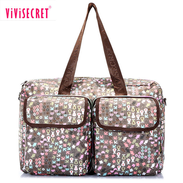 Customize printing traveling totes bag sublimation nylon large foldable one day travel bag for women