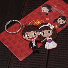 new arrival cartoon wedding couple lover rubber kering gifts keychain