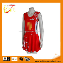 Wholesale good quality hot sale red sublimation cheerleading uniform