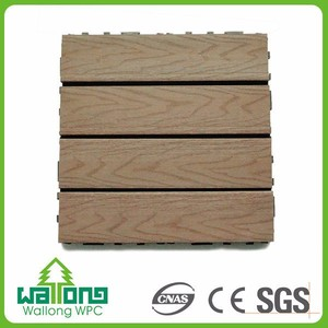 Wear resistant wood plastic floor outdoor wpc co extrusion deck art tile