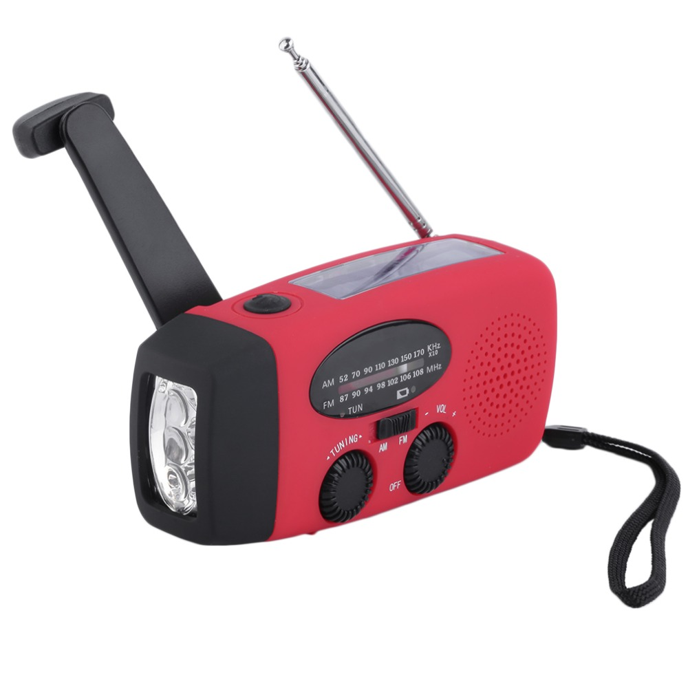 Solar power emergency light solar hand crank radio with flashlight