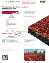 IAAF certificated Spray-coat System Polyurethane Athletic Running Track Surface