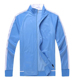 Hotselling European Style Warm Light blue soccer Jacket For Men with Factory price